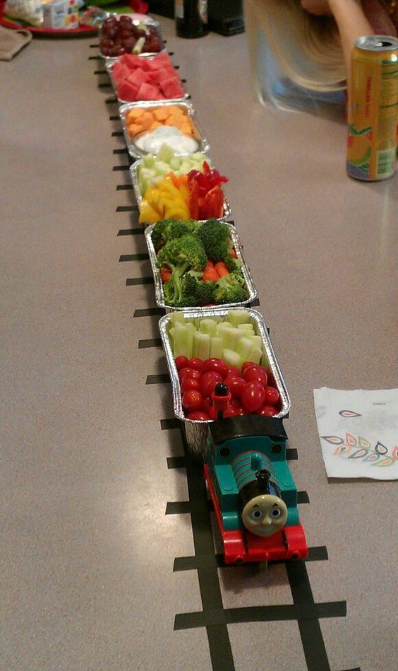 The Thomas The Train Snack Train I Made For My Son S Third