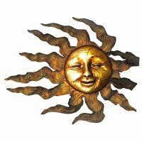 Sun Face Wall Art - shop garden treasures glass mosaic sun ...
