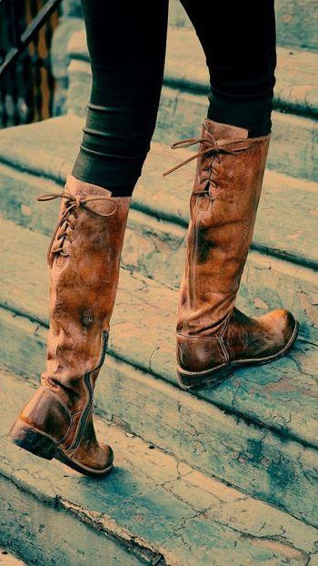 Rustic boots.: