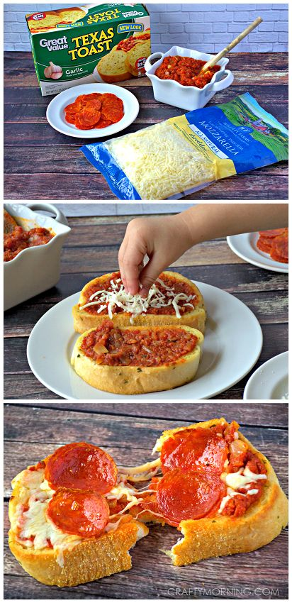 Quick and Easy Texas Toast Pizza Recipe for kids! - Yummy dinner or lunch idea.: