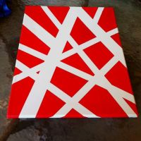 Abstract painting, used painters tape, and oil paint. Easy ...