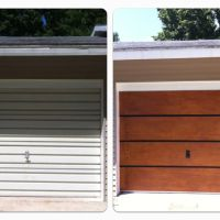 Garage Door Makeover under $100 (we only spent $75)! Old ...