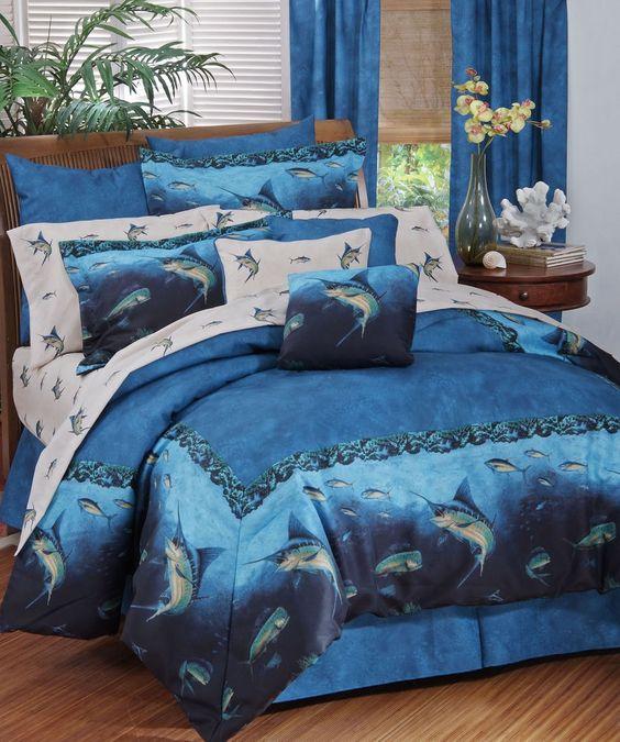 Coral Reef Fish Bedding 11 Pc Queen Comforter Set