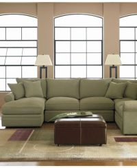 "Doss 4- Piece Fabric Microfiber Sectional, 144""W x 104""D x ..."
