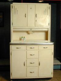 A 1930s cream coloured Art Deco hoosier cabinet. | Vintage ...
