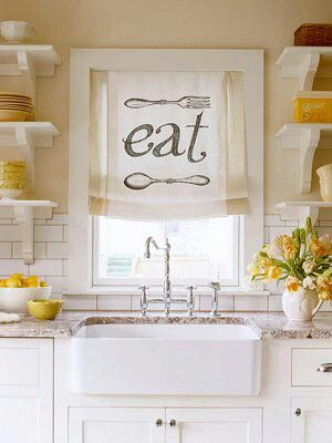 Cute kitchen curtain  Kitchencountrymodern  Pinterest