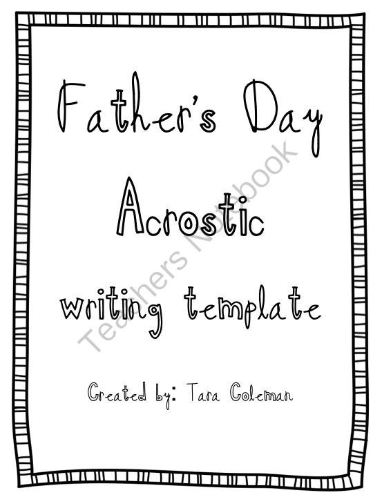 Fathers Day Acrostic Poem from 180 Days and Counting on