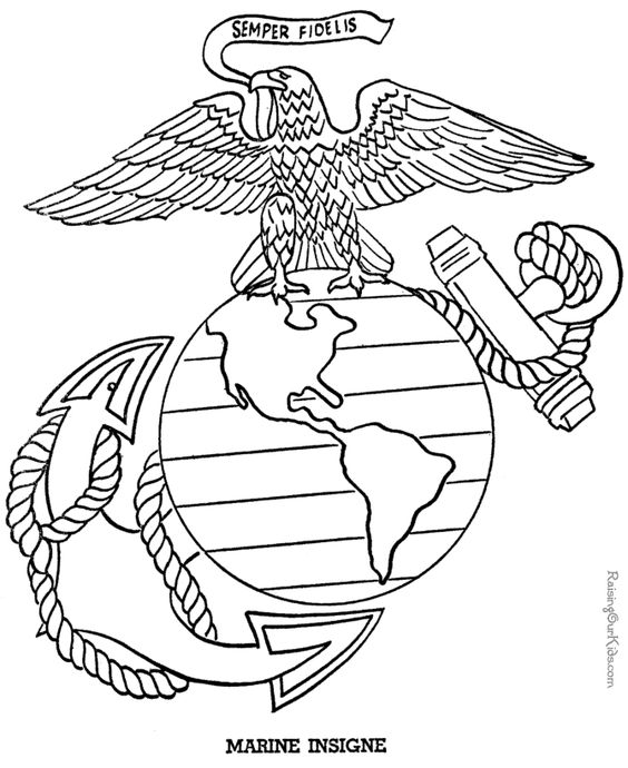 coloring pages military! oorah!  marine corps things