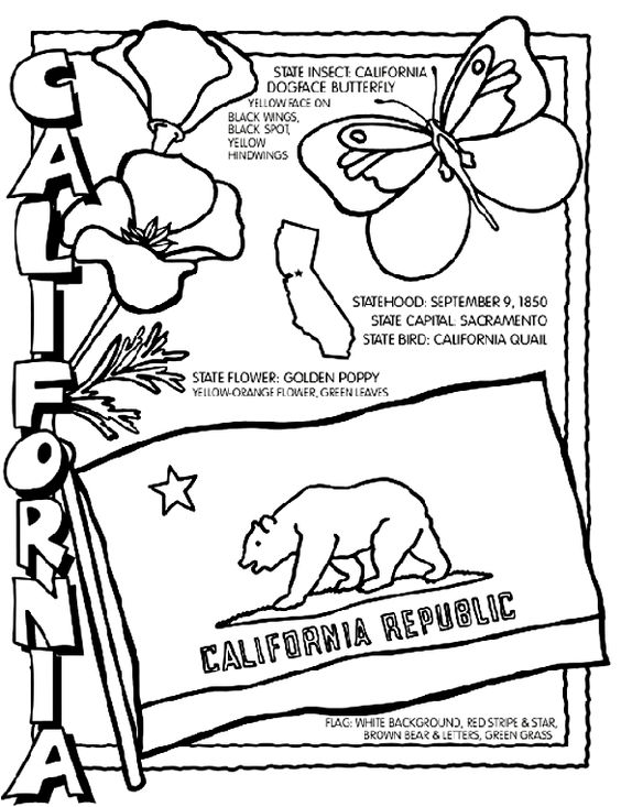 Coloring pages, Coloring and California on Pinterest