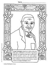 Inventor George Washington Carver coloring page for Black