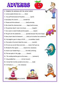 adverbs worksheet - Google Search | Adverbs | Pinterest ...