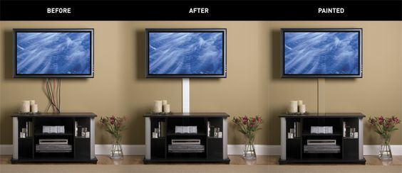 The Wiremold R Flat Screen Tv Cord Cover Kit Is A Customizable Easy To