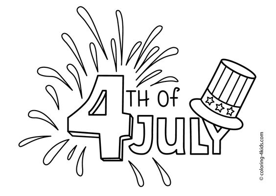 July 4 coloring pages, USA Independence day coloring pages