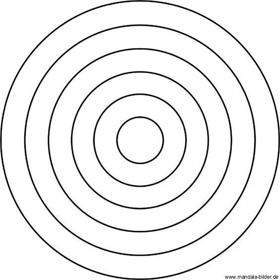 Einfaches Mandala für Kindergartenkinder mit einem Kreis