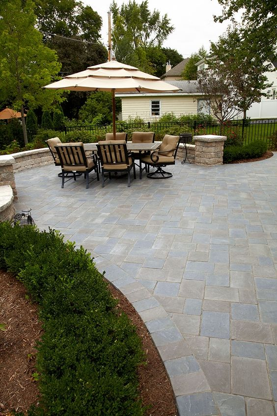 Unilock Patio  Ideas for our patio project in my dreams