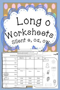 Long o Worksheets | Silent E, Spelling and Worksheets