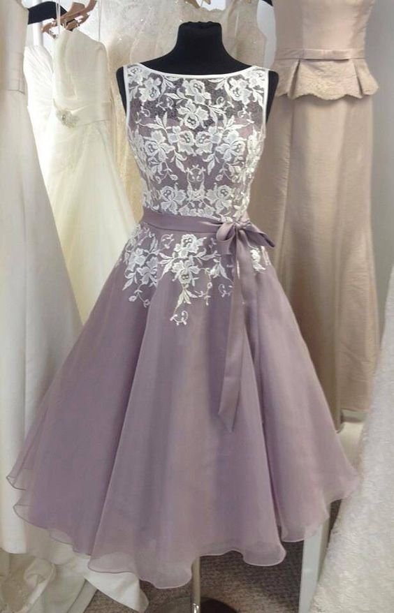 gray prom dress, lace prom dress,unique bridesmaid dress, off shoulder bridesmaid dress, occasion dress,BD160701 - Thumbnail 1: