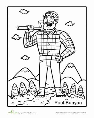 Paul bunyan, Tall tales and Worksheets on Pinterest