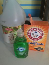 Oven Cleaner- baking soda, vinegar (equal parts) few drops ...