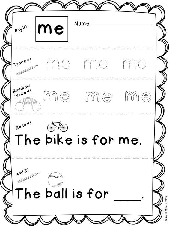 Journeys kindergarten, Kindergarten sight words and Sight