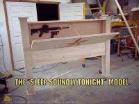 Headboard gun cabinet!!! | Dresser Ideas | Pinterest | Gun ...