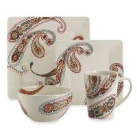 Paisley 4-Piece Dinnerware Set - Bed Bath & Beyond | Table ...