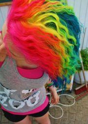 hair rainbow and types