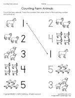Math worksheet, preschool. This website has lots of free