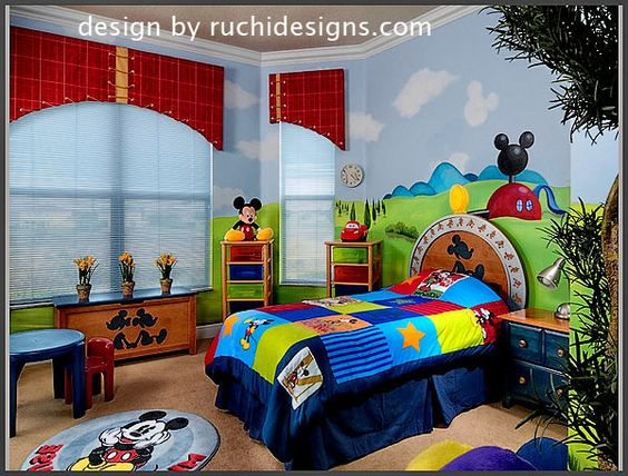 Mickey mouse bedroom Mickey mouse and Dream bedroom on Pinterest