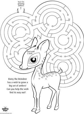 Rudolph Maze. Free to download and print. http://www