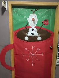 Christmas door decorations, Christmas door and Olaf on ...