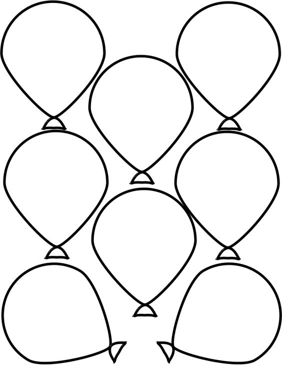 Balloon template, Balloons and Templates on Pinterest