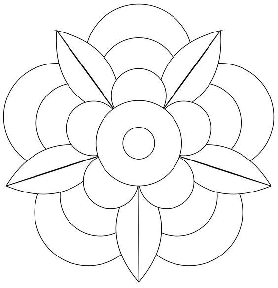 Coloring, Mandalas and Flower on Pinterest