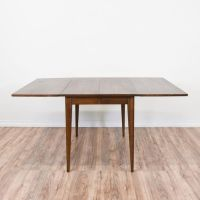 Mid Century Modern Walnut Drop Leaf Dining Table | Drop ...