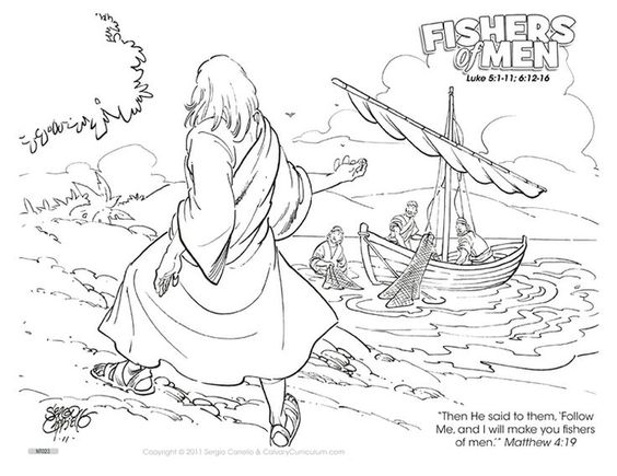 Fishers of men, Search and Coloring pages on Pinterest