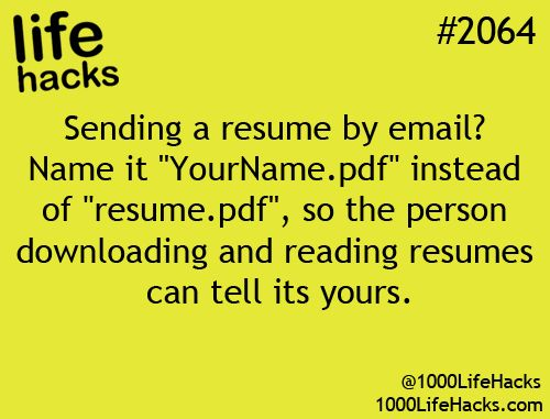 resume life hacks