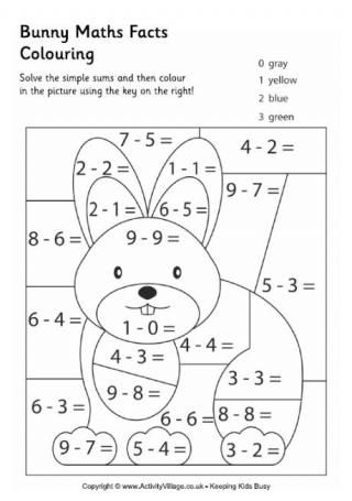 Math, Colouring pages and Math facts on Pinterest