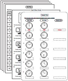 Elapsed time and Worksheets on Pinterest