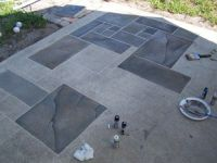 concrete patio faux slate w.i.p. - WetCanvas | Home ...