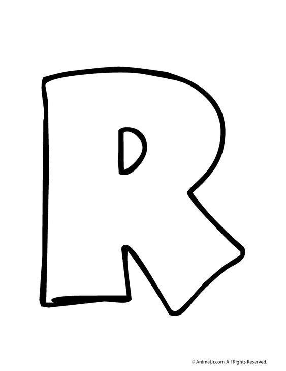 Printable Bubble Letters Bubble Letter R