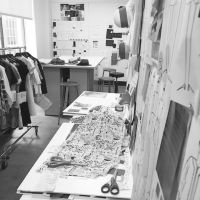Fashion Design Studio behind the scenes; fashion sketching