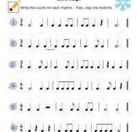 Music-Worksheets-Holidays-Rhythm-002 | music theory ...