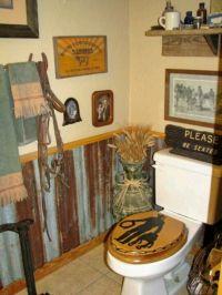 Tins, Man bathroom and Wall treatments on Pinterest