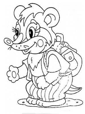 Baby Badger Realistic Printable Kids Coloring Books
