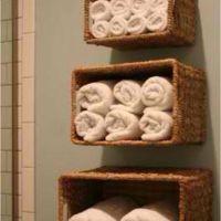 Wicker baskets, Basket shelves and Wicker on Pinterest