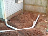 PVC pipe is the best product for gutter drainage. It is ...