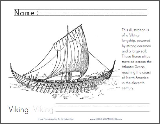 Label Parts Of A Viking Longship