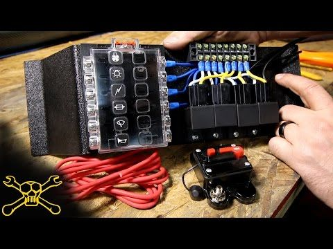 lighting wiring diagram junction box agile process flow how to make a power relay / fuse block | automotive - youtube truck lighting/electric ...
