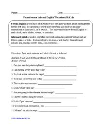 6th Grade  6th Grade Language Arts Common Core Worksheets