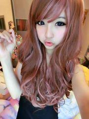 pink highlights kawaii hairstyles